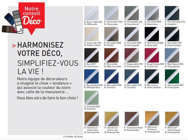 couleurs stores vénitiens groupe millet industrie