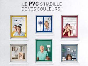 les fenêtres pvc s'habillent de vos couleurs