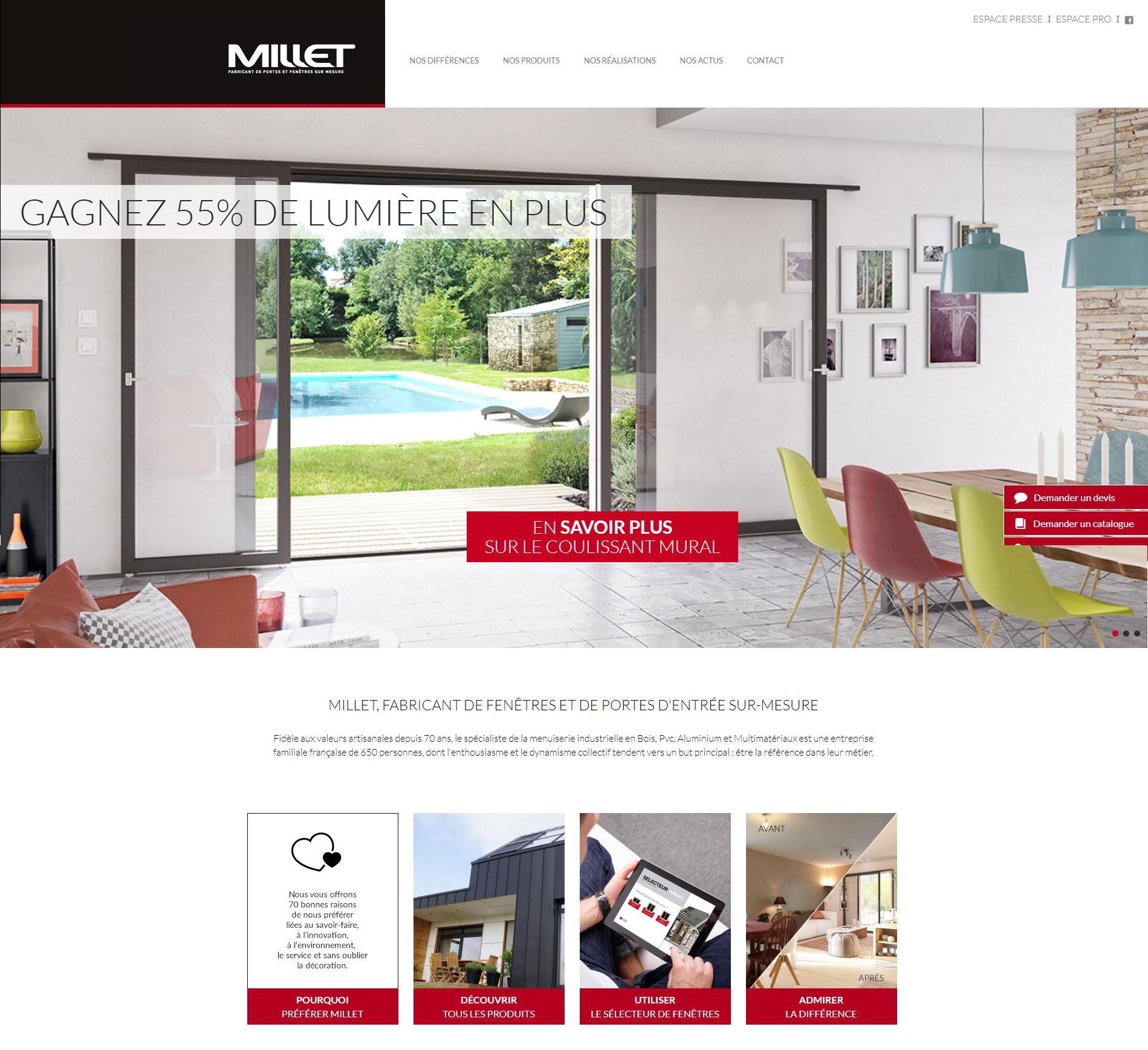 site millet accueil