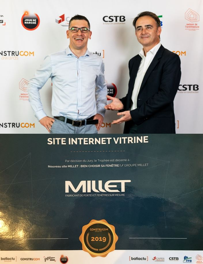 Meilleur site internet du bâtiment 2019 pour le Groupe MILLET