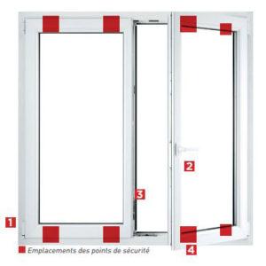 Pack sécurité fenêtres PVC Millet