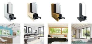 concept de fenêtres alu multimatériaux